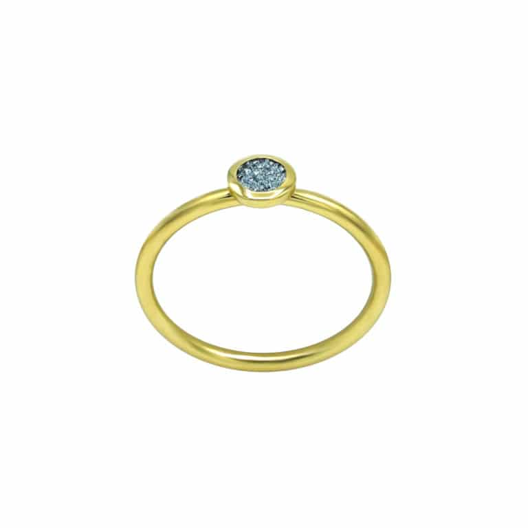 Gold Ring Osmium Diamond