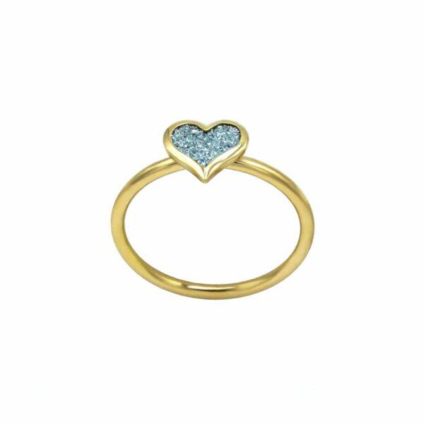 Gold Ring Osmium Herz