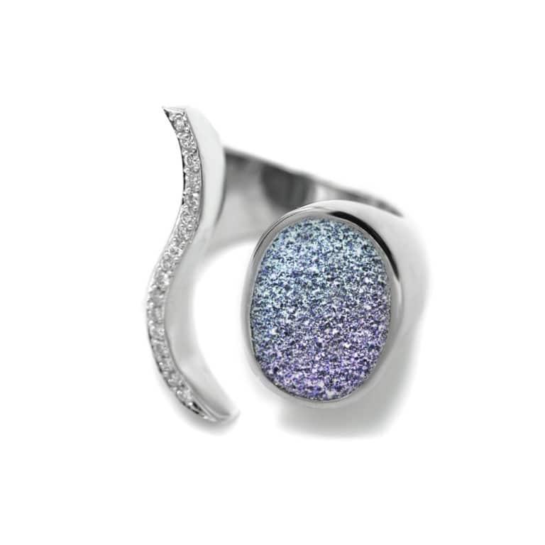 Platin Ring Osmium und Diamant
