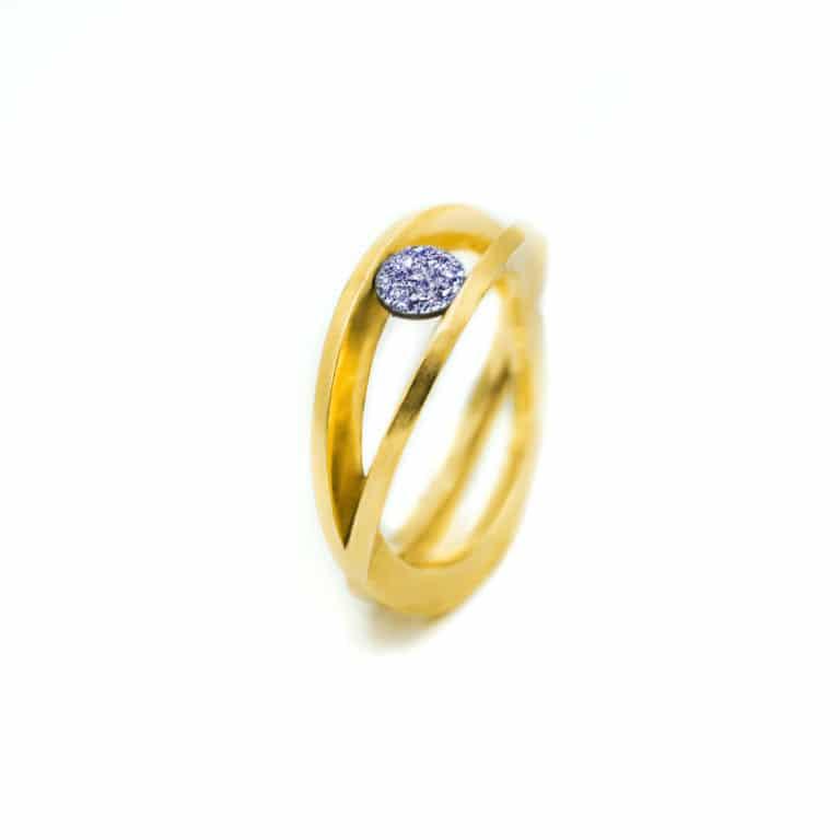 Osmium Ring Gold