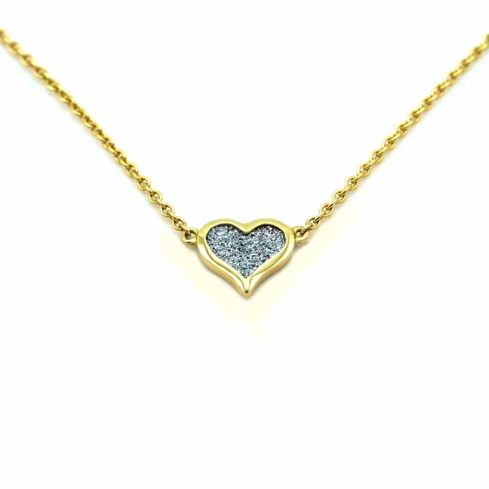 Osmium Schmuck Goldkette mit Herz