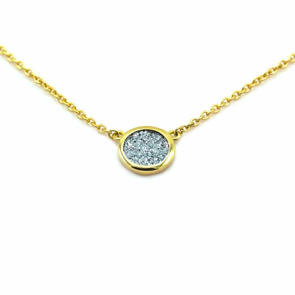 Osmium Schmuck Goldkette mit Osmium
